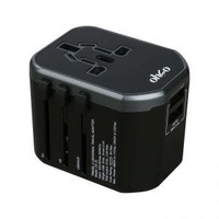 OHSO CE-20-GY/BK 2 USB TRAVEL ADAPTER (GREY/BLACK)