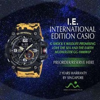 CASIO INTERNATIONAL EDITION G SHOCK MUDMASTER X LOVE THE SEA AND THE EARTH WILDLIFE PROMISING LIMITED EDITION GG-1000WLP-1A
