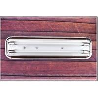 T5 專用 藝術 燈具 核木質感2尺 4尺 雙管 燈座 空台 附三段電子IC小夜燈 附T5燈管   台中代客安裝服務