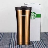 2016 Starbucks Stainless Steel Double Layers Vacuum Thermos Coffeetravel Mug Brown(Brown) - intl