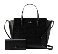 Kate Spade Grand Street Hayden and Nika Leather Shoulder Bag Satchel with Matching Wallet Set