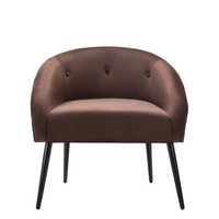 Morden Accent Chair In Velvet Fabric Sofa Instyle Design Easy Assembled