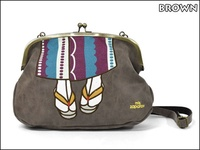 Japan mis Zapatos beautiful leg bag leather kimono messenger satchel backpack handbag hand Bag