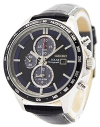 (Seiko) Seiko Chronograph SSC437P1 Watch Classic & Simple-Solar Chronograph
