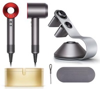Dyson Supersonic™ Hair Dryer (Iron/Red) with Gold Case & Dyson Hair Dryer Stand
