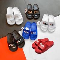 FILA DURAMO SLIDE 黑白 藍紅 白銀 黑金 橡膠 防水 運動 拖鞋 LOGO 男女 韓國限定 DOT聚點