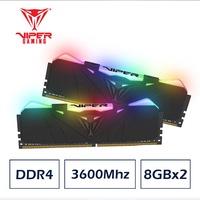 VIPER美商博帝 RGB Black DDR4 3600 16GB(2x8GB)桌上型記憶體