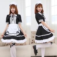 【貓冠良品】日系少女❤黑白女僕裝咖啡餐廳演出制服套裝🌟Cosplay角色扮演(S/M/L/XL)(780元)