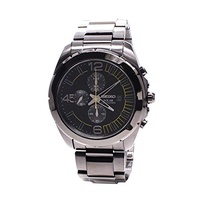 (Seiko) Seiko Solar Chronograph Black Dial Stainless Steel Mens Watch Watch SSC217 by Seiko Watch...