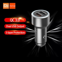 discount Xiaomi 70Mai Car Charger Quick Charge 3.0 Dual USB Output Multiple Protection Fast Car Char