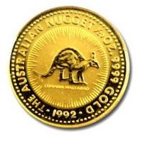 1992 澳洲 袋鼠 金幣 0.05盎司 -Shiny炫麗珠寶