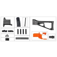 Ubest Worker STF-W023-A UMP9 Style Mod Kits Set With Black Adaptor for Nerf Toy Gun