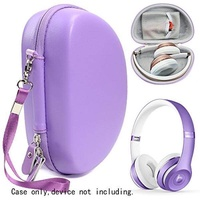 Ultra Violet Protective Case for Beats Solo 3 Wireless On-Ear Headphones, also for Solo 2 Wired and Solo HD, Featured in matching color and shape, accessories pocket, detachable wrist strap - intl