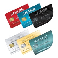 鯊魚現金卡 鯊魚卡GTA5幣1億-100元刷錢PC steam R星 俠盜獵車手5 代練遊戲幣 全解鎖 等級遊戲幣