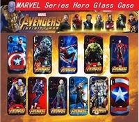 OPPO R11S/R11S Plus/R11/R11 Plus Original Marvel Tempered glass Cover Case