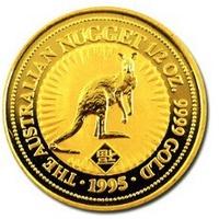 1995 澳洲 袋鼠 金幣 0.5盎司 -Shiny炫麗珠寶