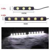 高亮版日行燈  LED 高亮度 日行燈  3晶 6晶 超薄汽車日間行車燈 亮度佳