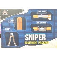 【MR W】副廠 NERF 配件 狙擊套件 狙擊任務 四款合售 狙擊鏡 彈夾 腳架 長槍管 玩具槍 空氣槍 瞄準鏡