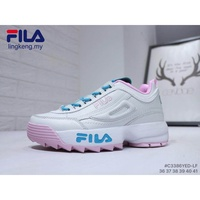 FILA Platform Fashion Pretty Women Running GYM Pink Blue Outdoor Sports Shoes 41
