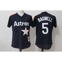 日本代購太空人號 BAGWELL 深藍色復古網眼MLB球衣棒球服優質現貨