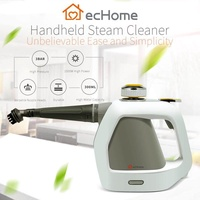 ecHome Electric Hand Held Steam Cleaner Set Portable Bathroom Home Window 1000W