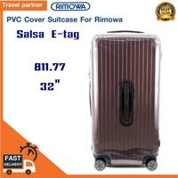 พลาสติกใสคลุมกระเป๋าแบบซิป เฉพาะแบรนด์ RIMOWA  SALSA E-tag / Travel Partner PVC for RIMOWA SALSA E-tag พลาสติกใสคลุมกระเป๋าแบบซิป เฉพาะแบรนด์ RIMOWA Luggage Sets Cover Protector Clear PVC Suitcase Case Protective with Grey Zipper