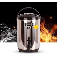 io1138 10升保溫桶冰桶商用奶茶保溫桶10l奶茶店冰桶開水保溫桶不銹鋼12L