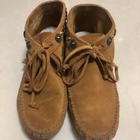 OPHELIE麂皮莫卡辛流蘇短靴