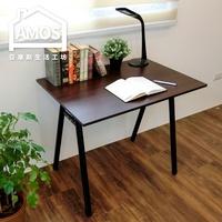 電腦桌/辦公桌/書桌/防水【DCA037DK】環保粗管90公分A型工作桌 Amos