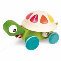 法國 Janod - 經典設計木玩-轉轉小烏龜