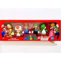☆虹色雜貨╭ 超級瑪利兄弟 Mario 馬力歐 瑪莉歐 路易 碧姬公主 耀西 任天堂造型公仔 模型 玩偶 玩具