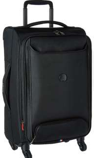 """DELSEY Paris  Delsey Luggage Chatillon 21 Inch 21"""" Carry on Cabin Size Sized Expandable Spinner Trolley suitcase luggage Black"""