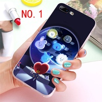 Fashion BTS Cartoon Cute BT21 TPU Korean Phone Case for IPhone 5 5S SE 6 6S 6Plus 7 7Plus 8 8Plus X
