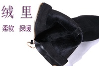 ZARA Shoes Gold Plating Block Heel Ankle Boots 2017 new Plush Martens female