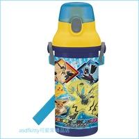 asdfkitty可愛家☆寶可夢 神奇寶貝 太陽月亮彈蓋直飲水壺-附背帶-480ML-PSB5SAN-日本製
