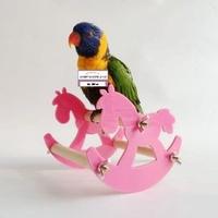 鸚鵡 啃咬玩具秋千站架站杠 搖搖椅 蹺蹺板 童趣小木馬