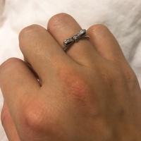 Pandora 潘朵拉 鑲鑽氣質蝴蝶結戒指 #56號