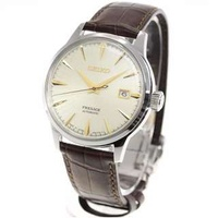 SARY109 Brand New Seiko Presage JDM Cocktail Automatic 50M Leather Strap 100% Original Analog Date Male Casual Watch w/ Warranty