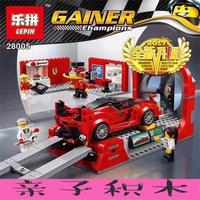 ★BBQ 正品 相容樂高超級賽車75882法利拉風洞實驗中心兒童拼裝積木玩具28005