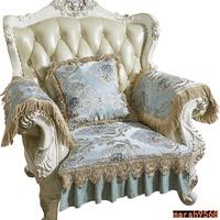 火爆新品♦歐式沙發坐墊蕾絲坐椅墊雙貴妃沙發墊組合客廳布藝靠背巾套罩防滑