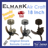 Elmark Air Craft 18 Inch Ceiling Fan with Remote Control