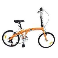 ALEOCA จักรยานพับได้ Alloy รุ่น Specifiche  ล้อ 20 นิ้ว, 6 Speed (สีส้ม) พร้อมไฟท้าย