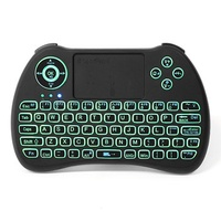 iPazzPort KP-810-21Q 2.4G Wireless English Three Color Backlit Mini Keyboard Touchpad Air Mouse