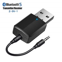 USB Bluetooth 5.0 Transmitter Receiver 2-in-1, Upgraded Bluetooth V5.0+EDR Adapter Dongle for TV...