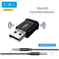 【RAC】Wireless 2 in 1 USB V5.0 Audio Bluetooth Adapter TV Speaker Transmitter Receiver