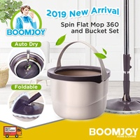 [▼-79%] ✔✔FREE DELIVERY ORIGINAL BOOMJOY M10 Spin Mop New Spin Flat Mop 360 and Bucket Set INCLUDED!