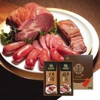 【野味食品】黑橋牌黑豬秘饌雙響禮盒C(黑豬肉香腸+黑豬梅花燒肉)(附贈禮盒禮袋)(桃園出貨)