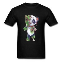 Horror Zombie Panda Ghoul T-Shirt Devil May Cry Bearcat Awesome Tshirts Ostern The Walking Dead Funny T Shirt Anime Print 3D Men black