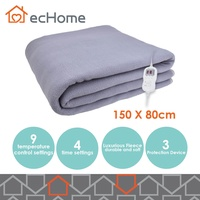 ecHome Washable Luxurious Fleece Temperature Selection Electric Blanket 150x80cm