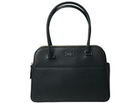 [KATE SPADE NEW YORK] 43218-7656 - Kate Spade NEW YORK Terri Grove Street Black Leather Tote Bag Sho